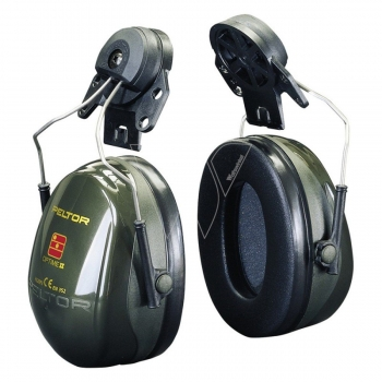 3M Peltor H520A Optime II gehoorbeschermer met helm bevestiging groen