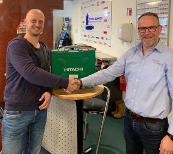 Marcel van Goor heeft een Hitachi Accuboormachine gewonnen