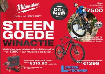 Milwaukee winactie win een fiets van 7500 euro